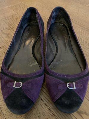 Unützer Mary Jane Ballerinas lilac-black suede