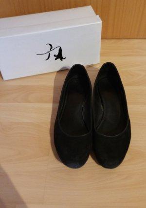 Black Lily Ballerina's met kant zwart Leer