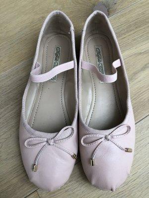 Buffalo London Strappy Ballerinas dusky pink