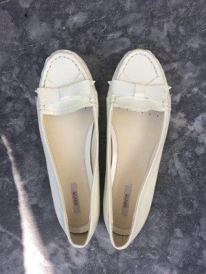 Geox Bailarinas de charol con tacón blanco puro