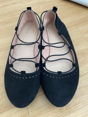 H&M Ballerines à lacets noir