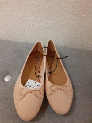 Ballerinas von H&M Größe 36 Rose beige neu