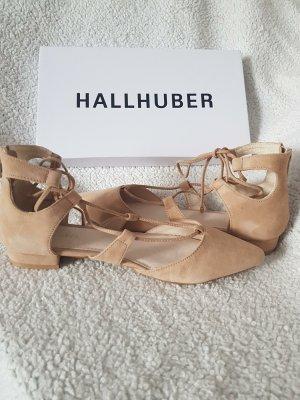 Hallhuber Ballerina's met kant goud