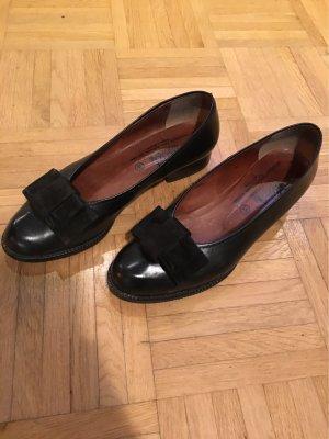 Högl Bailarinas con punta negro Cuero