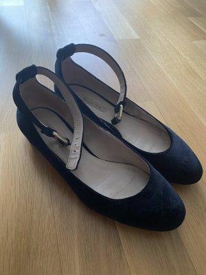 Massimo Dutti Ballerines à lacets noir