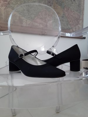 Mary Jane Ballerinas black linen