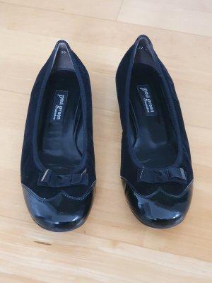 Paul Green Classic Ballet Flats black leather
