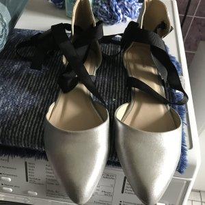 Pimkie Ballerine à bride arrière argenté-gris clair