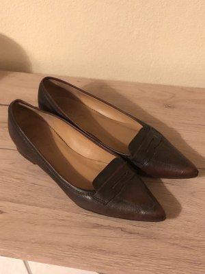 Unisa Pantofola marrone-rosso Pelle
