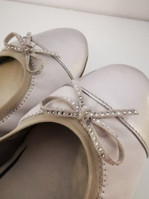 Tamaris Classic Ballet Flats white-silver-colored