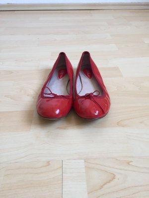 Bloch Ballerina di pelle verniciata rosso