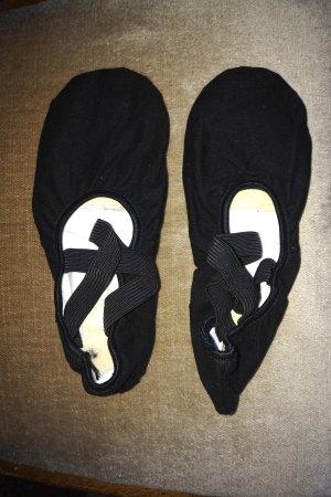 CAPEZIO Foldable Ballet Flats black cotton
