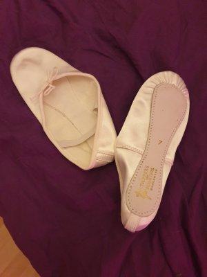 Ballerines à lacets blanc