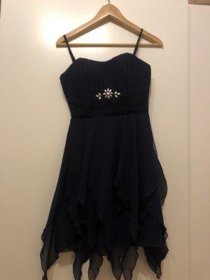 Charme Robe de bal bleu foncé