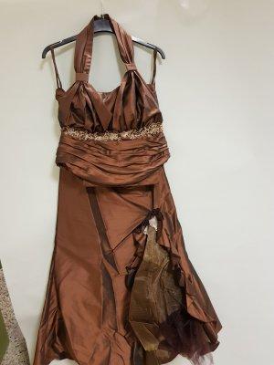 Robe de bal bronze-brun
