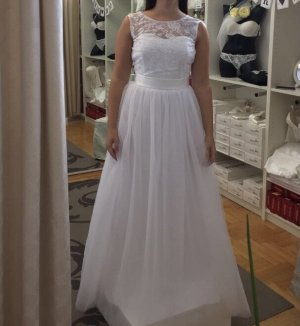 Suknia balowa biały