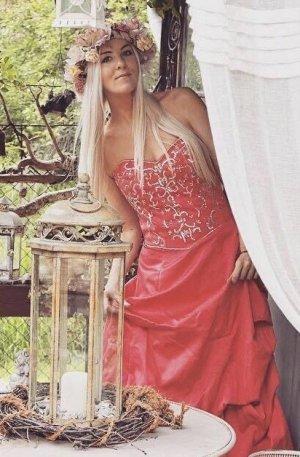 Masquerade Vestido de baile rojo frambuesa-salmón