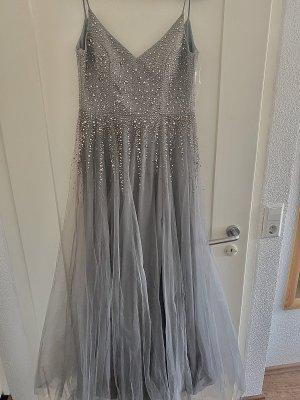 Suknia balowa srebrny-szary niebieski