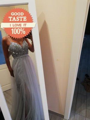 Suknia balowa jasnoniebieski Tkanina z mieszanych włókien