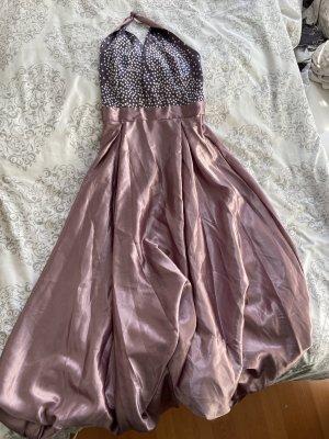 Vestido de baile color rosa dorado
