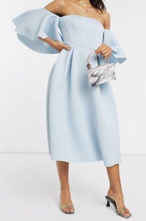 ASOS DESIGN Ball Dress baby blue polyester