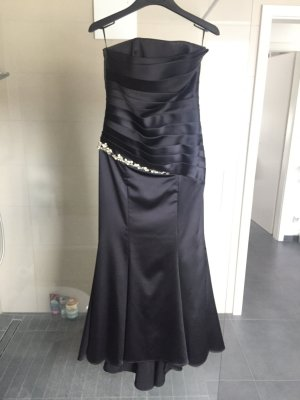 Ballkleid Abendkleid Hennakleid Abschlussballkleid schwarz Silber Gr 38