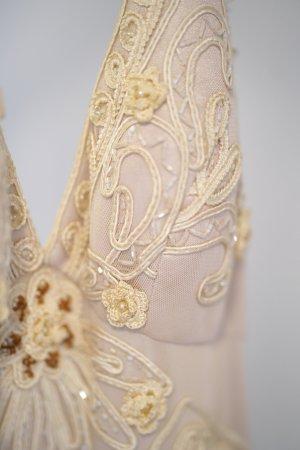 Emilio Carducci Robe de bal blanc-blanc cassé tissu mixte