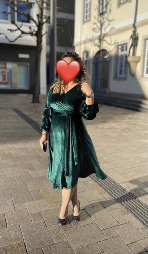 Vestido de baile verde bosque