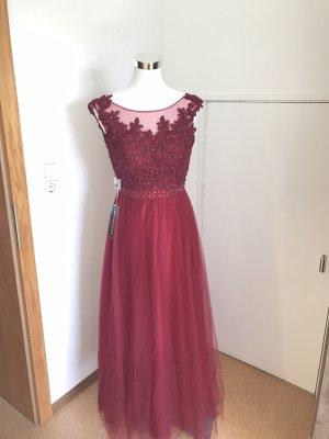 Ballkleid-Bordeaux- Rotes Kleid- Weinrot