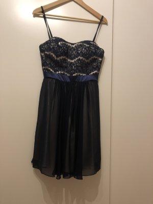 Charme Suknia balowa w kolorze białej wełny-ciemnoniebieski