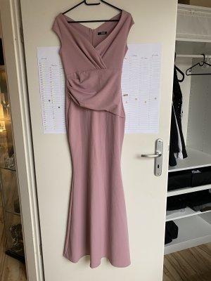 QUIZ Vestido de baile rosa empolvado-rosa
