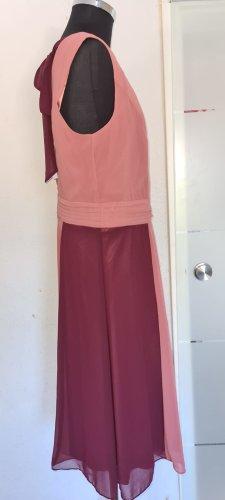 Ballkleid, Maxikleid, Abendkleid Rot mit Streifen Rot Gr. 44 von Sheego