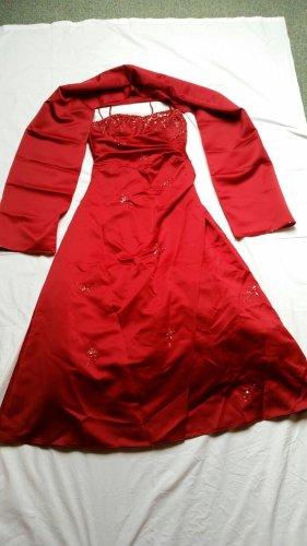 Vestido corsage rojo ladrillo