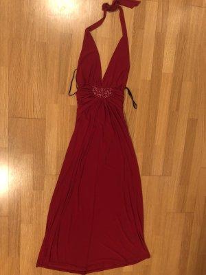 Vestido de baile rojo oscuro