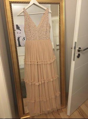 Lace & Beads Ball Dress dusky pink polyester