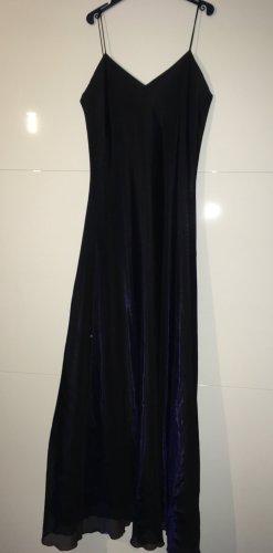 Ballkleid Organza schwarz/blau changierend+Überziehbluse