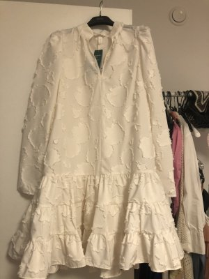 H&M Sukienka z rękawem balonowym biały