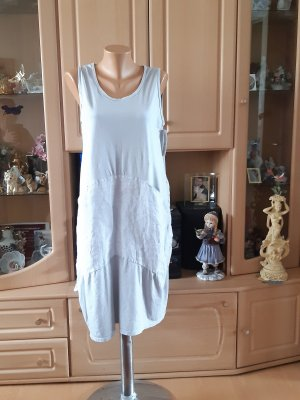 Made in Italy Sukienka z rękawem balonowym jasnoszary