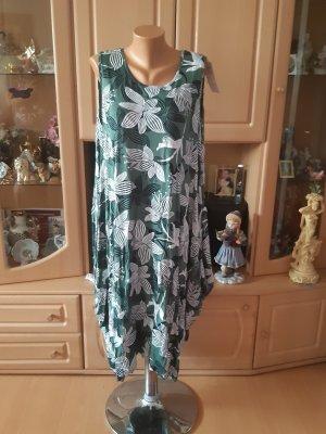 ambitionfly Sukienka z rękawem balonowym leśna zieleń