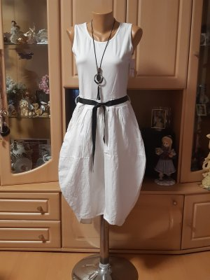 Made in Italy Robe ballon blanc coton