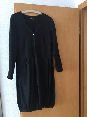 Silkroad Sukienka z rękawem balonowym czarny Len
