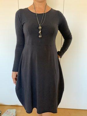 Susy Mix Sukienka z rękawem balonowym ciemnoniebieski Bawełna