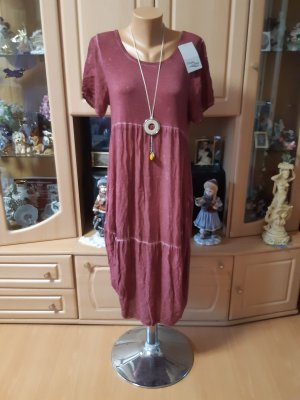 Made in Italy Balloon Dress bordeaux