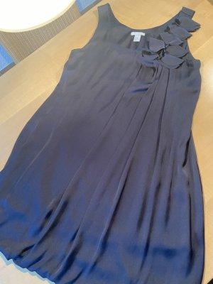 H&M Sukienka z rękawem balonowym ciemnoniebieski