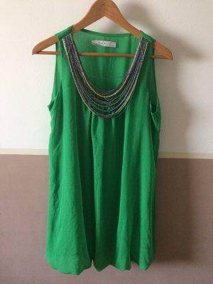 Zara Basic Balloon Dress green