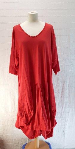 Robe ballon rouge-rouge brique