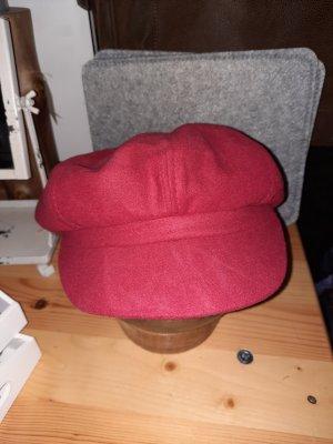 hand gemacht Chapeau en feutre rouge brique