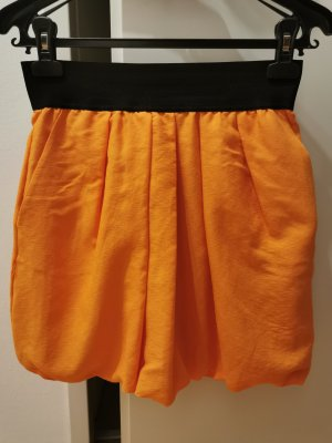 Zara Basic Ballonrok oranje Polyester