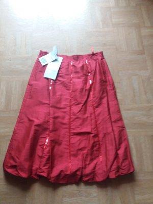Singh Madan Silk Skirt neon red