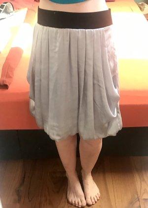 H&M Falda globo color plata-gris claro